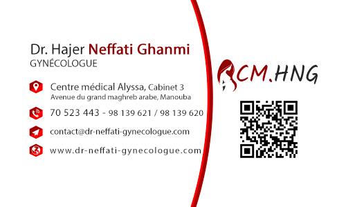 Carte Visite gynécologue tunisie
